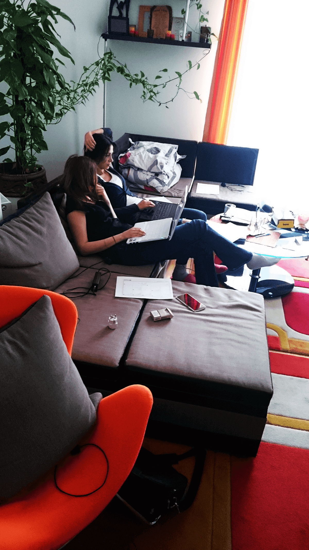 Silvia and Irina working on PixTeller
