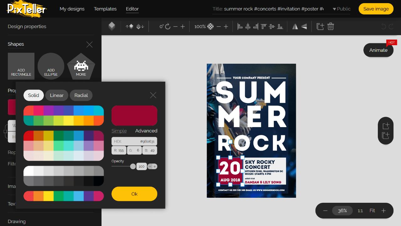 Online Invitation Editor Screenshot