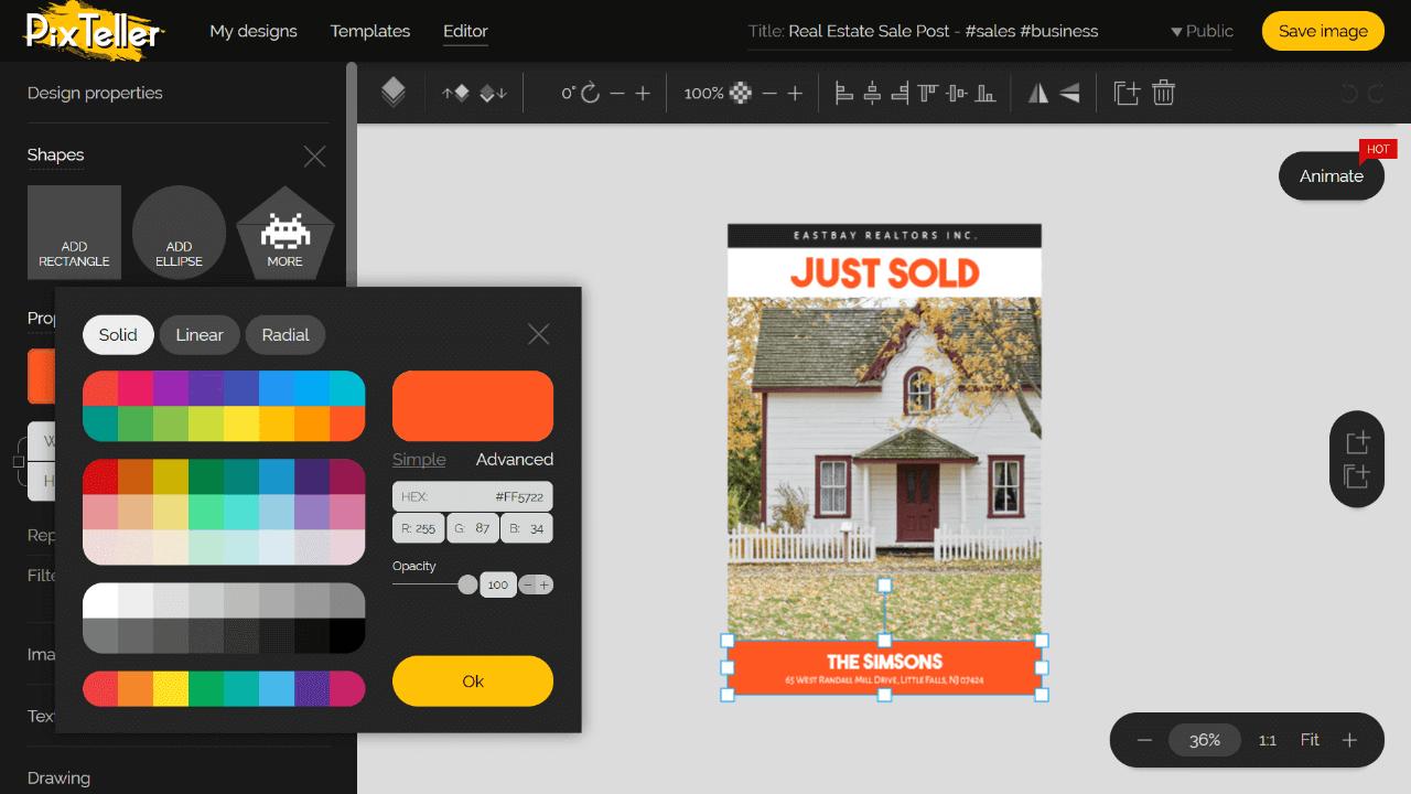 Poster Editor Software Screenshot
