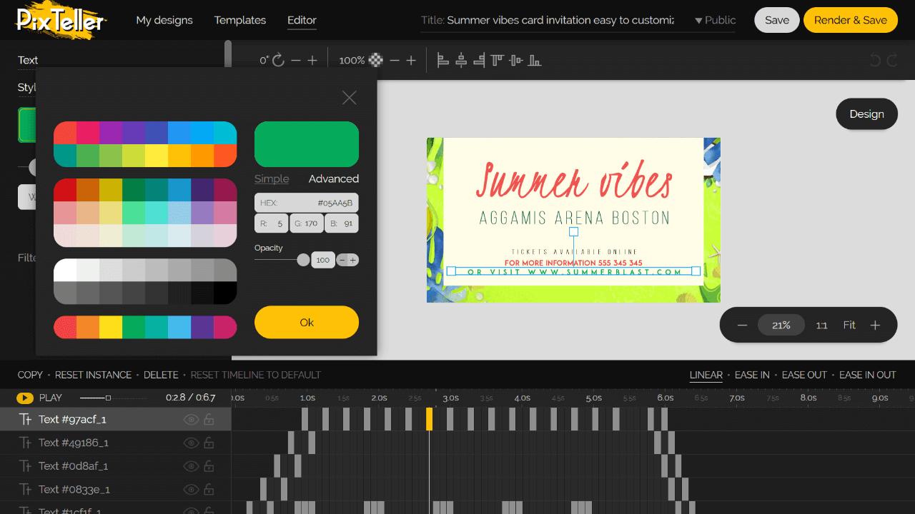 Free Slideshow Editor Screenshot