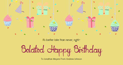 Birthday Card Example Easy to Customize