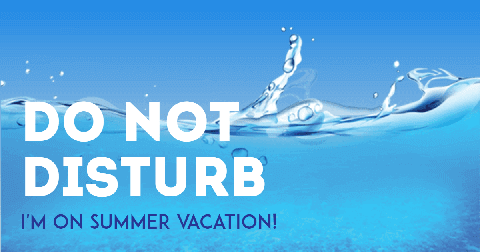 I�m on Summer Vacation Card Example