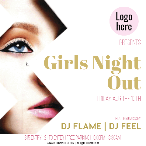 Girls Night Out Invitation Design Easy to Customize