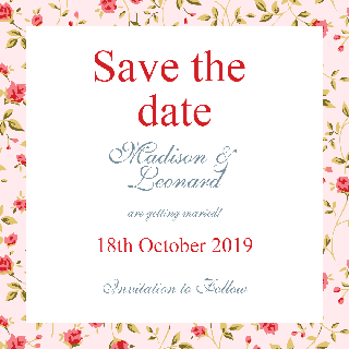 Save the Date Hand Writing Invitation Example