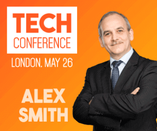 Tech Conference Large Rectangle Banner Example Easy to Customize