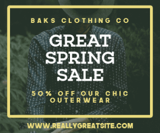 Spring Sale Discount Large Rectangle Banner Design