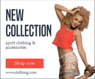 New Collection Sport Clothing and Accesories Large Rectangle Banner