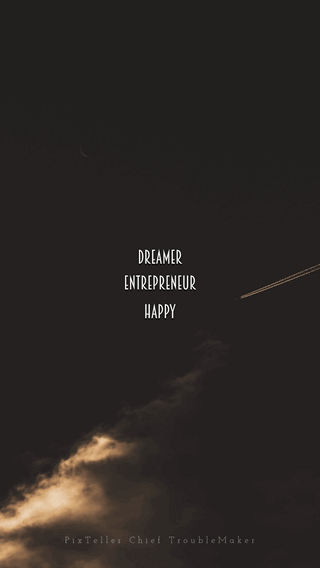Mobile Wallpaper Easy to Change Words and Replace the Background Picture