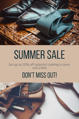 Summer Sale Photo Collage Poster Example