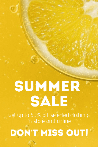 Summer Sale Poster Example