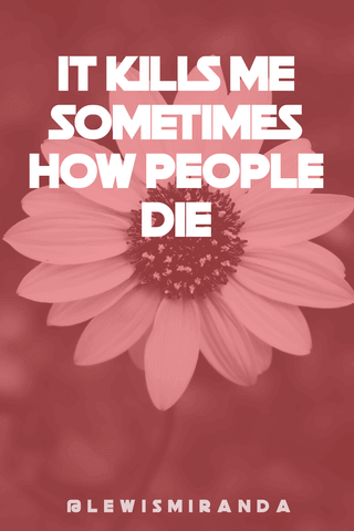Quote with a Flower Background Poster Example