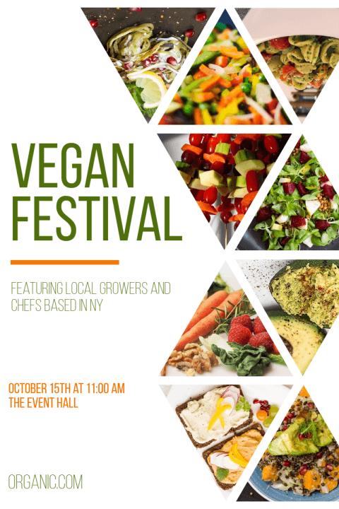 Vegan Food Festival Poster Example