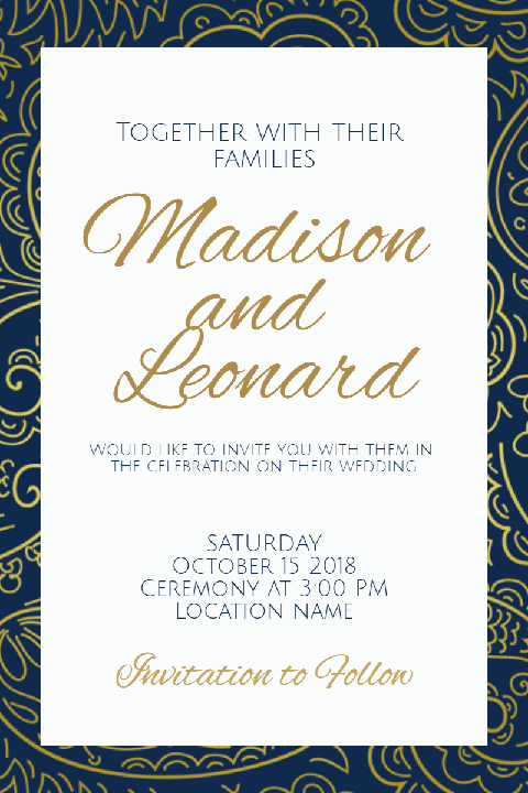 Poster Invitation Layout to Edit and Customize for Any Celebration Event
