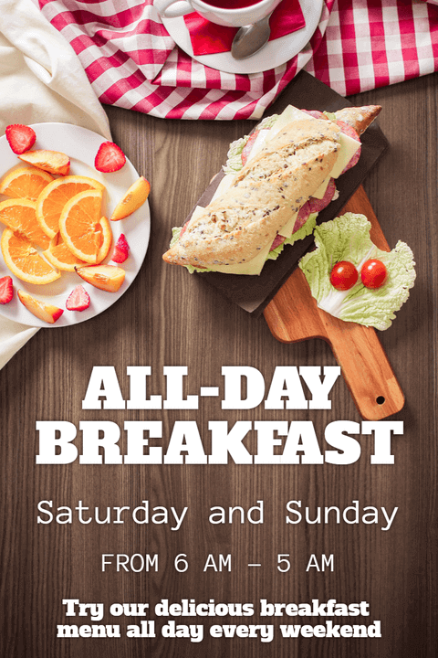 All Day Breakfast Poster Invitation Example