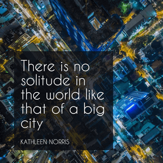 There is No Solitude in the World Like That of a Big City Quote Picture