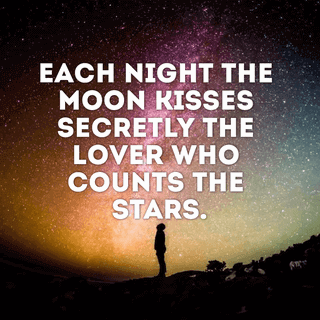 Editable Picture Quote with Sky and Stars Photo as Background