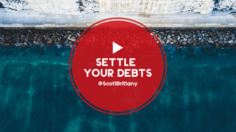 Settle Your Debts Video Thumbnail Template Easy to Personalize