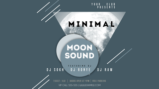 Minimal Moon Sound Youtube Music Video Thumnail Template