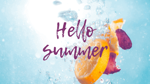 Hello Summer Desktop Wallpaper Example with Customizble Words and Photos